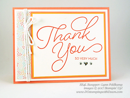 Stampin' Up! Sale-A-Bration Inspiration swap cards shared by Dawn Olchefske #dostamping (Lynn Feldkamp