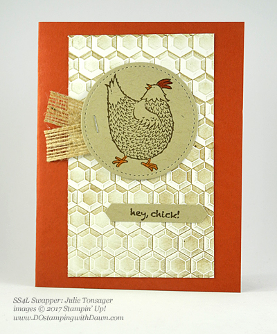 Stampin' Up! Sale-A-Bration Inspiration swap cards shared by Dawn Olchefske #dostamping (Julie Tonsager)