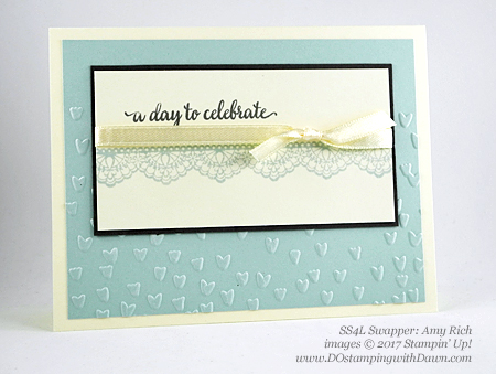 Stampin' Up! Sale-A-Bration Inspiration swap cards shared by Dawn Olchefske #dostamping (Amy Rich)