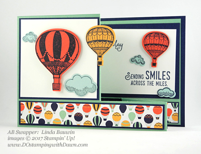 Stampin' Up! Sale-A-Bration Inspiration swap cards shared by Dawn Olchefske #dostamping (Linda Bauwin)