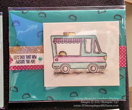 Stampin' Up!Sale-a-Bration Tasty Trucks card shared by Dawn Olchefske #dostamping