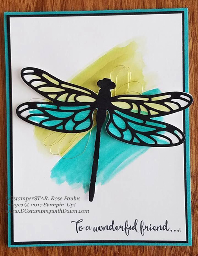 Stampin' Up! DOstamper STARS Friday Feature cards shared by Dawn Olchefske #dostamping (Dragonfly Dreams-Rose Paulus)