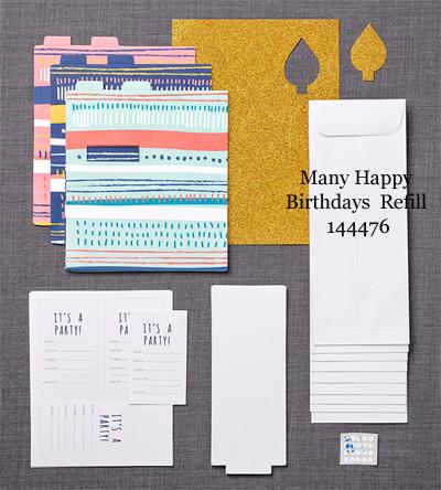 Many Happy Birthdays Paper Pumpkin Feb 2017 Refill Kit, Shop with Dawn O #dostamping