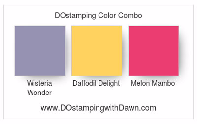 Stampin' Up! Color Combo Wisteria Wonder, Daffodil Delight & Melon Mambo #dostamping