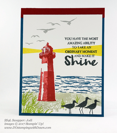 Stampin' Up! High Tide stamp set swap cards shared by Dawn Olchefske #dostamping (Jodi)