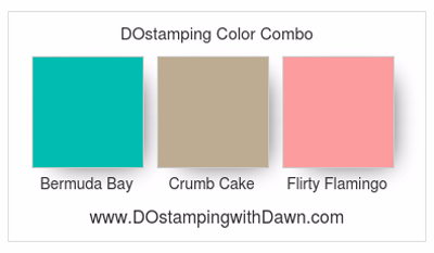 Stampin' Up! Color Combo Bermuda Bay, Crumb Cake, Flirty Flamingo #dostamping