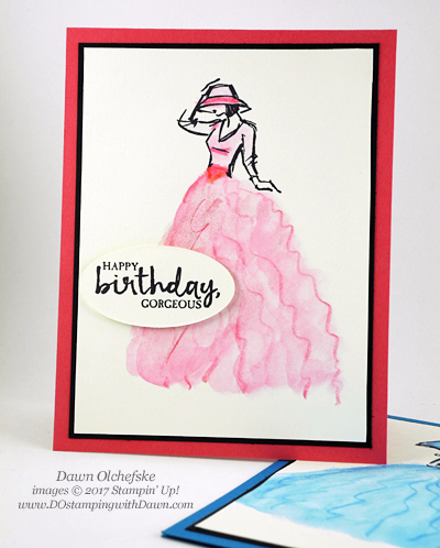Stampin' Up! Watercolor Pencil Ruffles Beautiful You card by Dawn Olchefske for DOstamperSTARS Thursday Challenge #DSC222 #dostamping