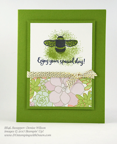 Stampin' Up! Dragonfly Dreams card shared by Dawn Olchefske #dostamping (Denise Wilson)
