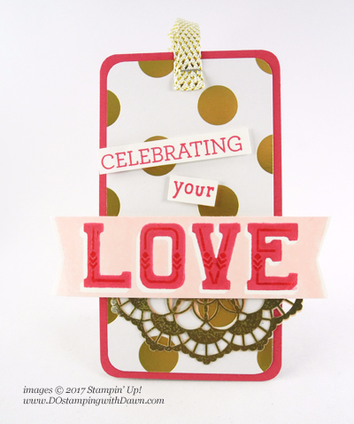 Stampin' Up! Double Take tags shared by Dawn Olchefske #dostamping