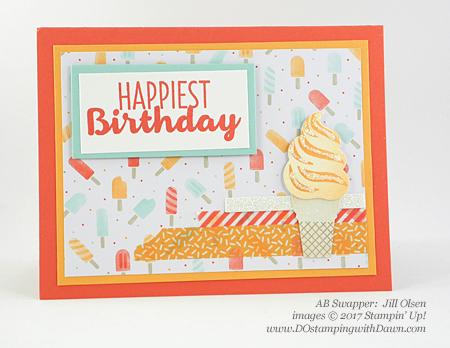Stampin' Up! Cool Treats Bundle & Suiteswap cards shared by Dawn Olchefske #dostamping (Jill Olsen)