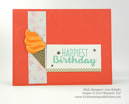Stampin' Up! Cool Treats Bundle & Suite swap cards shared by Dawn Olchefske #dostamping (Lisa Schultz)