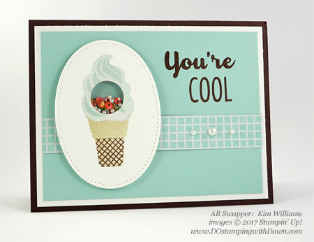 Stampin' Up! Cool Treats Bundle & Suite swap cards shared by Dawn Olchefske #dostamping (Kim Williams)