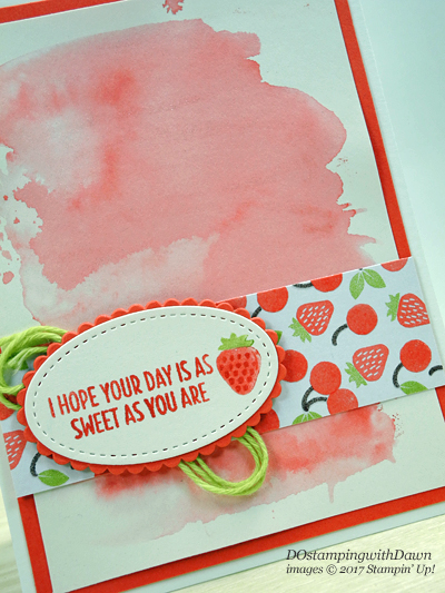 Stampin' Up! Cool Treats Suite with Watercolor Wash Technique card shared by Dawn Olchefske #dostamping