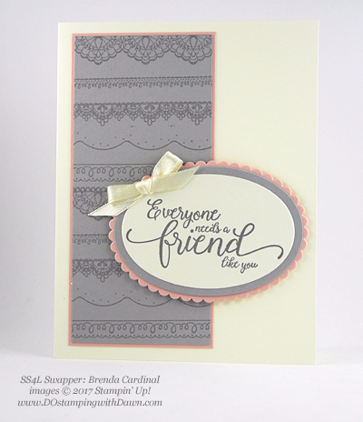 Stampin' Up! Sale-a-Bration Delicate Details shared by Dawn Olchefske #dostamping  (Brenda Cardinal)