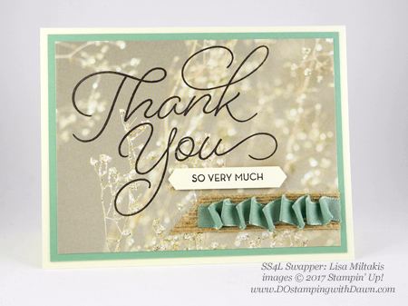 Stampin' Up! Sale-a-Bration So Very Much shared by Dawn Olchefske #dostamping (Lisa Miltakis)