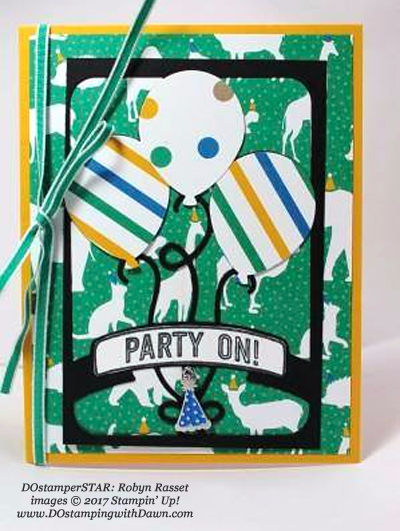 Stampin' Up! Party Animal Create & Play Kit for DOstamperSTARS shared by Dawn Olchefske #dostamping (Robyn Rasset)