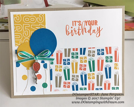 Stampin' Up! Party Animal Create & Play Kit for DOstamperSTARS shared by Dawn Olchefske #dostamping (June Ferguson)