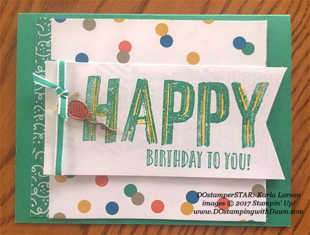Stampin' Up! Party Animal Create & Play Kit for DOstamperSTARS shared by Dawn Olchefske #dostamping (Karla Larson)