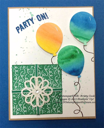 Stampin' Up! Party Animal Create & Play Kit for DOstamperSTARS shared by Dawn Olchefske #dostamping (Kristy Cook)