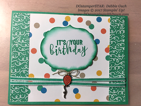 Stampin' Up! Party Animal Create & Play Kit for DOstamperSTARS shared by Dawn Olchefske #dostamping (Debbie Guch)