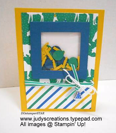 Stampin' Up! Party Animal Create & Play Kit for DOstamperSTARS shared by Dawn Olchefske #dostamping (Judy Strickling)