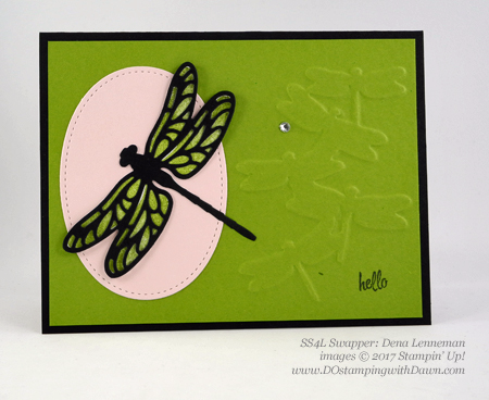 Stampin' Up! Dragonfly Dreams bundle swap cards shared by Dawn Olchefske #dostamping (Dena Lenneman)