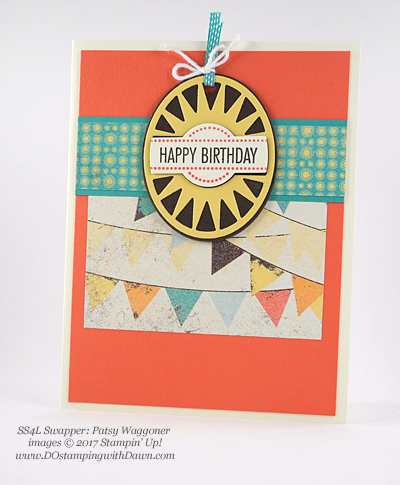 Stampin' Up! That's The Tag Bundle swap cards shared by Dawn Olchefske #dostamping (Patsy Waggoner)