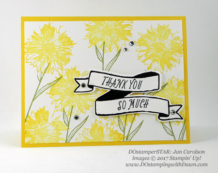 Stampin' Up! DOstamper STARS Friday Feature swap cards shared by Dawn Olchefske #dostamping (Jan Carlson)