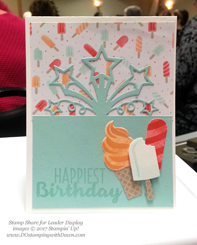 Stampin' Up! Birthday Blast bundle swap cards shared by Dawn Olchefske #dostamping