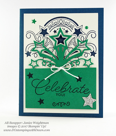 Stampin' Up! Birthday Blast bundle swap cards shared by Dawn Olchefske #dostamping (Janice Wightman)