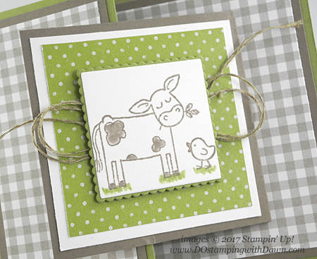 Stampin' Up! Barnyard Babies stamp set shared by Dawn Olchefske #dostamping