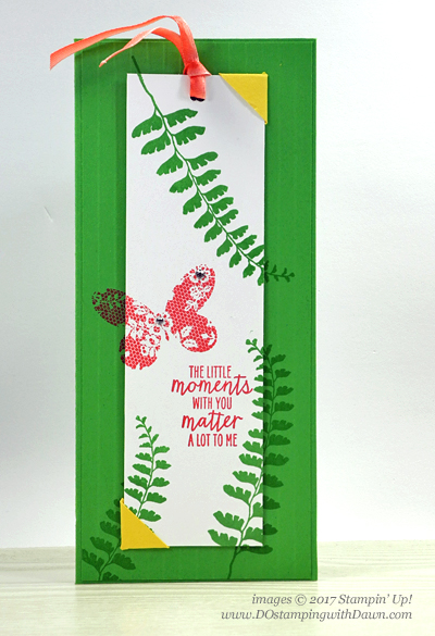 Stampin' Up! Watercolor Wings Bookmark Card shared by Dawn Olchefske #dostamping