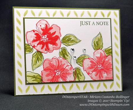 Stampin' Up! Penned & Painted card shared by Dawn Olchefske #dostamping (DOstamperSTAR: Miriam Castanho Bollinger)