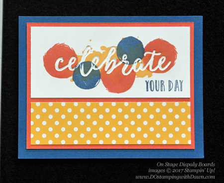 Stampin' Up! Happy Celebrations stamp and Celebrations Duo Textured Impressions Embossing Folders swap cards shared by Dawn Olchefske #dostamping