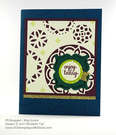 Stampin' Up! Eastern Palace Bundleswap cards shared by Dawn Olchefske #dostamping (Meg Loven)