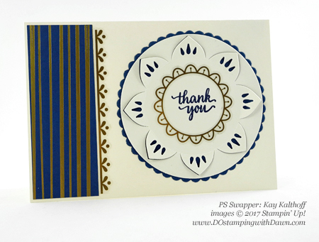 Stampin' Up! Eastern Palace Bundle swap cards shared by Dawn Olchefske #dostamping (Kay Kalthoff)