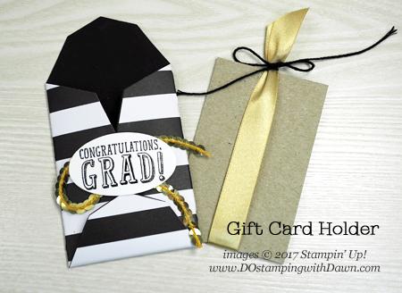 Stampin' Up! BYOP Gift Card Holdershared by Dawn Olchefske #dostamping