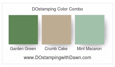 Stampin' Up! color combo Garden Green, Crumb Cake,Mint Macaron #dostamping