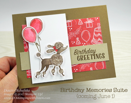 Coming June 1st Stampin' Up! Birthday Memories Suite card created by Dawn Olchefske for DOstamperSTARS Thursday Challenge #DSC231 #dostamping
