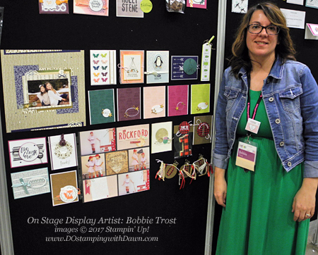 Bobbie Trost Stampin' Up! On Stage Display Artist shared by Dawn Olchefske #dostamping