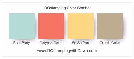 Stampin' Up! Color Combo Pool Party, Calypso Coral, So Saffon, Crumb Cake #dostamping