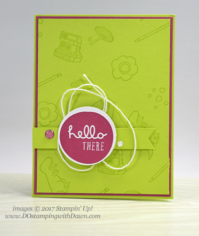 Stampin' Up! Pieces & Patterns stamp set shared by Dawn Olchefske #dostamping