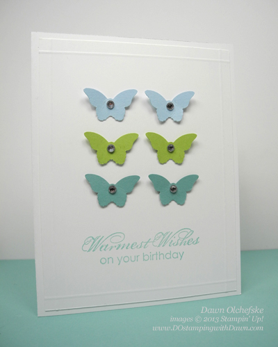 Stampin' Up! Retiring Bitty Butterfly Punch shared by Dawn Olchefske #dostamping