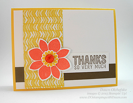 Stampin' Up! Flower Medallion Punch shared by Dawn Olchefske #dostamping