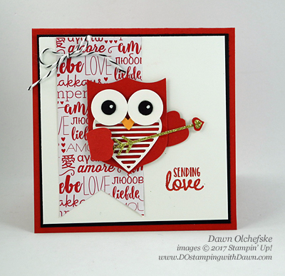 Stampin' Up! Retiring Confetti Hearts Border Punch shared by Dawn Olchefske #dostamping
