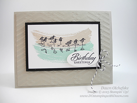 Stampin' Up! Wetlands card by Dawn Olchefske #dostamping