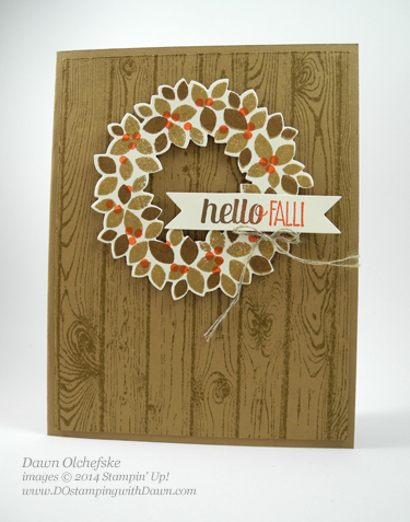 Stampin' Up! Retiring Wonderful Wreath Framelits and Wondrous Wreath stamp set card created by Dawn Olchefske #dostamping