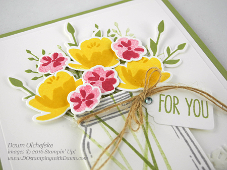 Stampin' Up! Retiring Tags & Labels Framelits and Jar of Love Bundle card created by Dawn Olchefske #dostamping