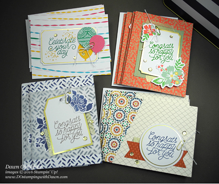 Retiring: Stampin' Up! Designer Tin of Cards with Dawn Olchefske, #dostamping