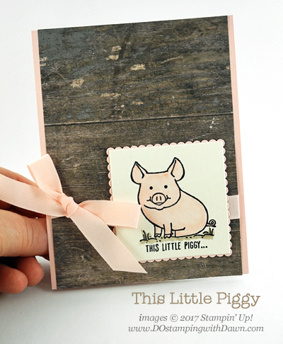 In Color week with Powder Pink & This Little Piggy share by Dawn Olchefske #dostamping